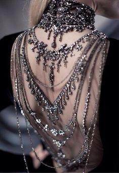 prom dress backless prom dress open back jewelery gorgeous shine prom goth diamonds backless dress grunge grunge jewelry punk jewelry bag beads beaded dress sequin dress bling ralph lauren grey