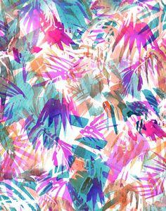 Palmtastic Art Print BY SchatziBrown #tropical #pattern #summer #palm