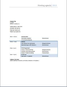 Management Meeting Agenda Template Meeting Agenda Template Is Designed To Help All Those Who Want To .