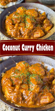 This coconut chicken curry can be made in one pot and is packed with delicious flavors! This curry can be made in 30 minutes or less making it the perfect weeknight dinner. Recipe via chelseasmessyapron Gluten Free Recipes For Dinner, Healthy Dinner Recipes, Easy Cooking, Cooking Recipes, Cooking Videos, Frango Chicken, Kari Ayam, Comida India, Curry Dishes