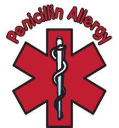 Penicillin Allergy Temporary Tattoo
