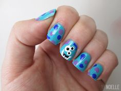 XO, Noelle | A beauty & lifestyle blog.: Three-Eyed Monster Nails - Tutorial