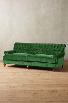 Velvet Fan Pleat Sofa - #anthrofave