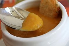 Roasted Butternut & Apple Soup with a light curry. (A feast for the Eyes)