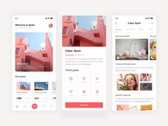 Tourism APP designed by 刘狗蛋 for DCU. Connect with them on Dribbble; Web Design Black, Flat Web Design, Web Ui Design, Web Design Trends, Web Design Company, Design Design, Dashboard Design, Graphic Design, Design Thinking