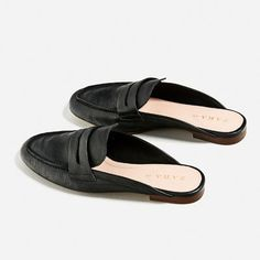 Image 5 of LEATHER MULE LOAFERS from Zara