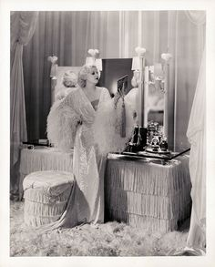 "Harlow in ""Dinner at Eight"" #vanity #dressing #table"