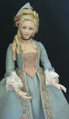 Dollhouse doll - 1:12 scale: Marie Antoinette by Debbie Dixon-Paver