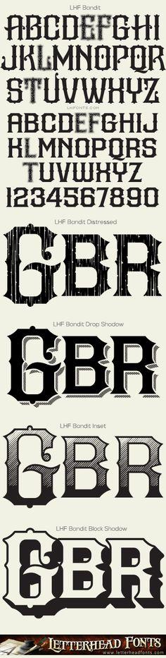 Letterhead Fonts / LHF Bandit font set / Western Fonts