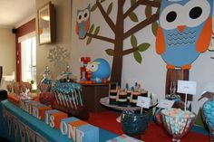 Owl Party for Kendyl Owl Themed Parties, Owl Parties, Girls Birthday Party Themes, Birthday Ideas, Owl Shower, Bird Party, Baby Shower Parties, Party Time, Party Ideas