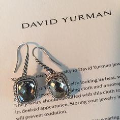David yurman earrings David yurman noblesse drop earrings with prasiolite and diamonds David Yurman Jewelry Earrings