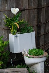 interesting way to recycle...although I'd be more likely to plant flowers vs. edibles ;)