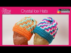 Learn how to crochet a Crystal Ice Hat. These interesting designed hats have really amazing optical illusions to make it appear more complicated than it real...