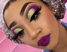 Dramatic Eye Makeup, Colorful Eye Makeup, Eye Makeup Art, Eyeshadow Makeup, Dope Makeup, Baddie Makeup, Pretty Makeup, Makeup For Black Skin, Glitter Makeup Looks