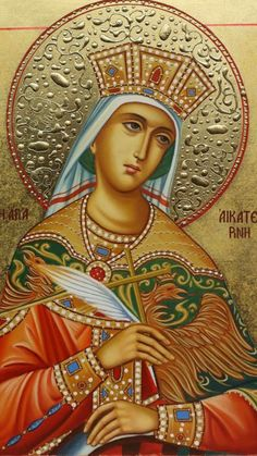Religious Icons, Religious Art, St Catherine Of Alexandria, Jesus Christ Images, Mary And Jesus, Byzantine Icons, Orthodox Icons, Blessed Mother, Christian Art