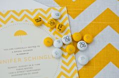 yellow chevron bridal shower... swoon!
