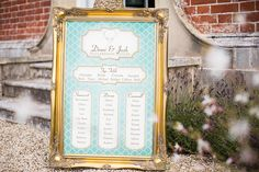 Stags head table plan design for vintage and rustic weddings.  Table plan in a vintage style frame.