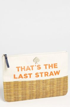 kate spade new york call to action - gia canvas pouch available at #Nordstrom