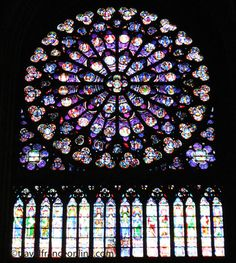Notre-Dame cathedral in #Paris - South rose window #France