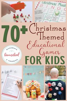 Do your kids love playing games? Check out these Christmas themed games perfect for your homeschool day, party or family gathering! You'll find kid-friendly games as well as some that adults will love too! #Christmasgames #learninggames #Christmas #hsgiveaways