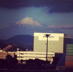 富士山が綺麗に見えました。