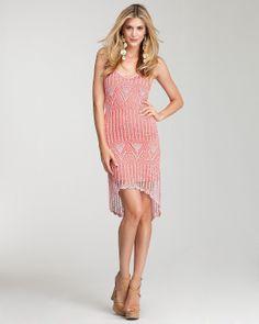 Crochetemoda: Vestido Rosa de Crochet