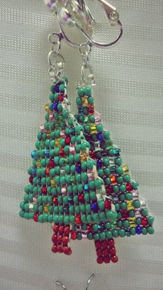 {Christmas Tree} Clip on Earrings