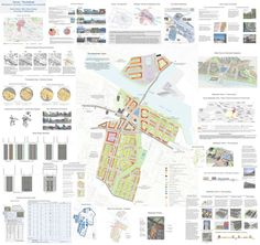 Great format for illustrating the planning goals and standards for an area - urban design Architecture Design, Architecture Board, Landscape Architecture, Landscape Design, Urban Design Concept, Urban Design Diagram, Urban Design Plan, Design Presentation, Architecture Presentation Board
