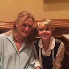 I loved working with Glenn Close in the movie. She is nice! #glennclose #WildeWedding #cesd #cast #movie #followme #actor #fun
