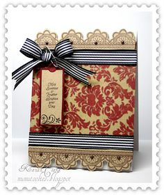 Card using JustRite Stampers Lacy Borders :)