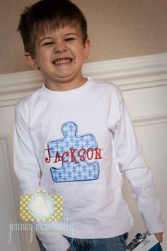 Autism Shirt by BGThreads on Etsy, $23.00  My Nick WILL HAVE THIS!  Too cute.