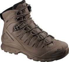 The Salomon Quest 4D GTX® Forces feature a waterproof and breathable Gore-Tex® membrane and a stable 4D chassis. These top of the line boots give you the suppor