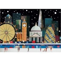 City Scenes Christmas Cards - London, Manchester, Liverpool, Newcsatle and Leeds City Collage, Company Christmas Cards, London Christmas, City Scene, Xmas Cards, Seasons, Prints, Inspiration, Design