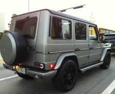 matt black vehicles   Matte Gray Mercedes G Wagon with black rims