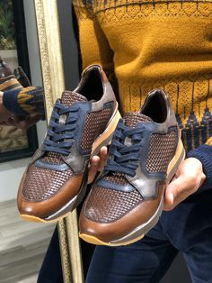 GentWith Eva Brown Laced Sneakers (1) Lace Sneakers, Sneakers Nike, Leather Shoes, Stylish, Brown, Free Shipping, Shopping, Fashion, Nike Tennis