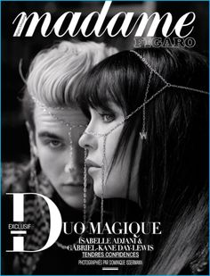 Gabriel-Kane Day-Lewis and his mother, Isabelle Adjani cover Madame Figaro.
