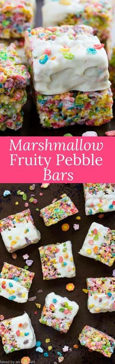 These Marshmallow Fruity Pebble Bars are the easiest, creative treats you will find! via @introvertbaker
