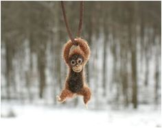 Tiny Swinging Felt Animal Jewelry by Motley Mutton ~ The Beading Gem's Journal