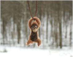 Tiny Swinging Felt Animal Jewelry by Motley Mutton - The Beading Gem's Journal