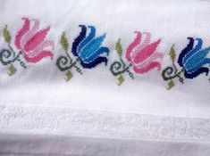 This Pin was discovered by Ayş Biscornu Cross Stitch, Cross Stitch Borders, Cross Stitch Flowers, Cross Stitch Designs, Cross Stitch Patterns, Pearl Embroidery, Hand Embroidery Flowers, Cross Stitch Embroidery, Loom Patterns