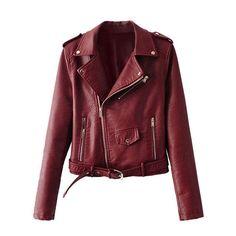 Faux Leather Women's Moto Jacket 5 Colors
