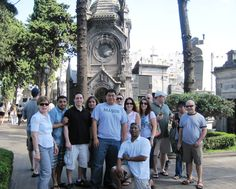Master of Science in Technology Management students on their 2011 residency to Brazil and Argentina. The purpose of the residency is to study a country who is leading edge in technology or in some cases a rapidly developing country. This particular photo was taken in Buenos Aires at the cemetery where Eva Peron is buried. (Courtesy of Ms. Clodagh Bassett)