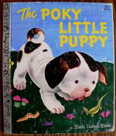 vintage childrens book The POKY Little PUPPY GOLDEN by Inktiques, $10.00