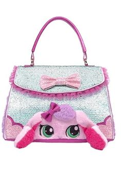 The style of this handbag is hopping! This Irregular Choice Bella Bunny Handbag Purse features mint and pink glitter accents with a bunny face on the front. Irregular Shoes, Irregular Choice, Bunny Face, Best Wallet, Pink Handbags, Cute Baby Animals, Cute Babies, Purses And Bags, Nerdy