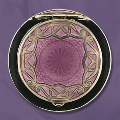 art deco guilloche enamel compact. @designerwallace  A sense of style  down to the smallest touches, we seldom see these days