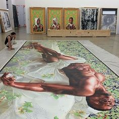 The Rubell Collection preparing  for #30Americans to travel to Detroit Institute of Arts this October #art #contemporaryart #collection #kehindewiley #rashidjohnson via @rubellcollection