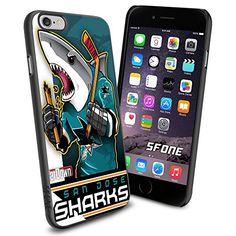 San Jose Sharks Cartoon WADE1516 Hockey iPhone 6 4.7 inch Case Protection Black Rubber Cover Protector WADE CASE http://www.amazon.com/dp/B00WQ7XLLU/ref=cm_sw_r_pi_dp_kG3mwb1WDYSVC