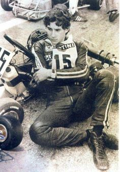 Young Ayrton Senna  http://www.velocitykartshop.com.au/
