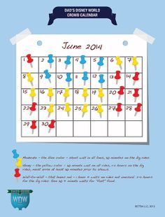 Dad's June 2014 Disney World Crowds Calendar