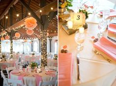 Peach Wedding Colors: Julie and Rich's Wedding at Succop Conservancy